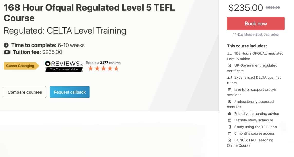Premier Tefl Review - Pricing