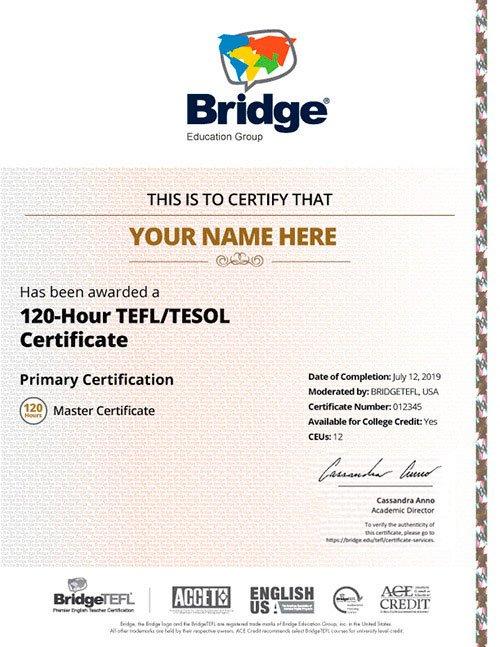 Bridgetefl Master Tefl Certificate