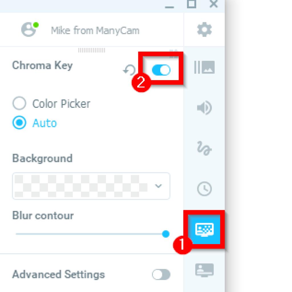Manycam Chroma Key