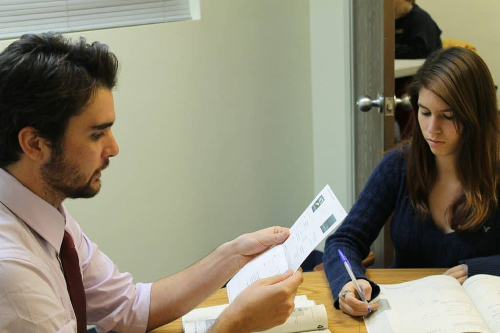 Private Tutor Working With Student.