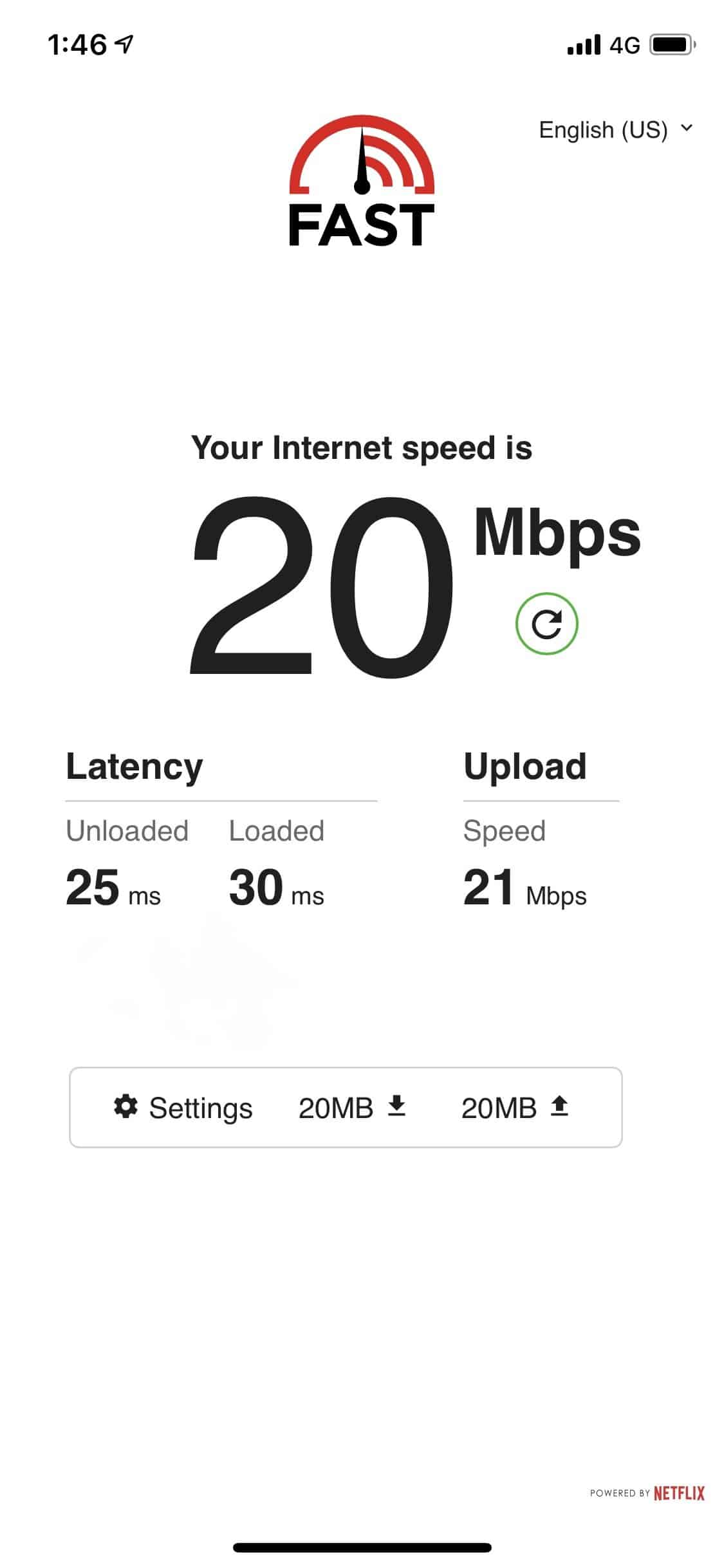 Speed Test On Mobile