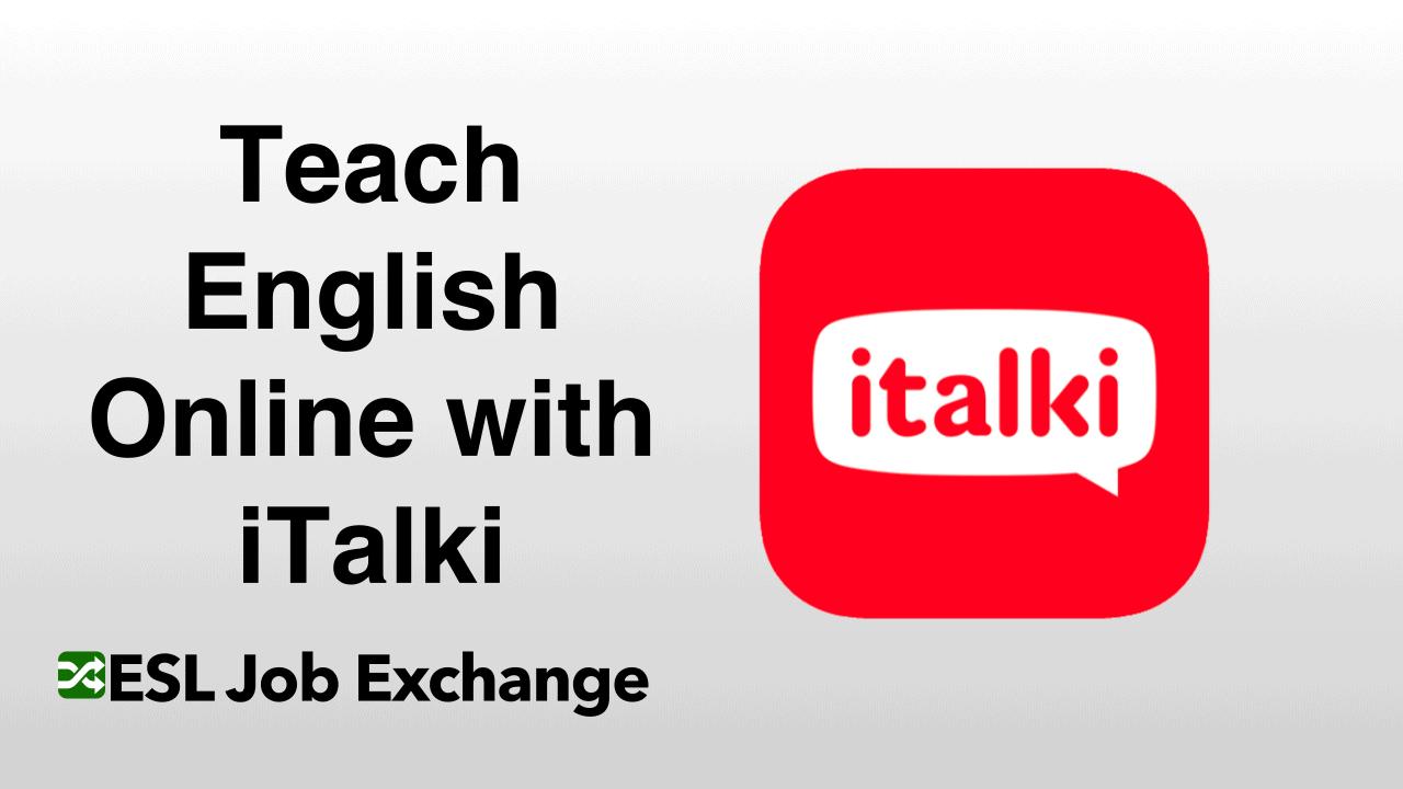 Teach English With Italki