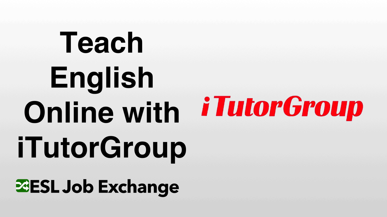 Teach English With Itutorgroup